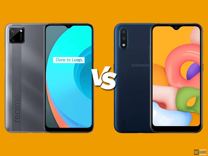 realme C11 vs Samsung Galaxy A01 Specs Comparison