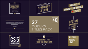 Titles Pack - 12
