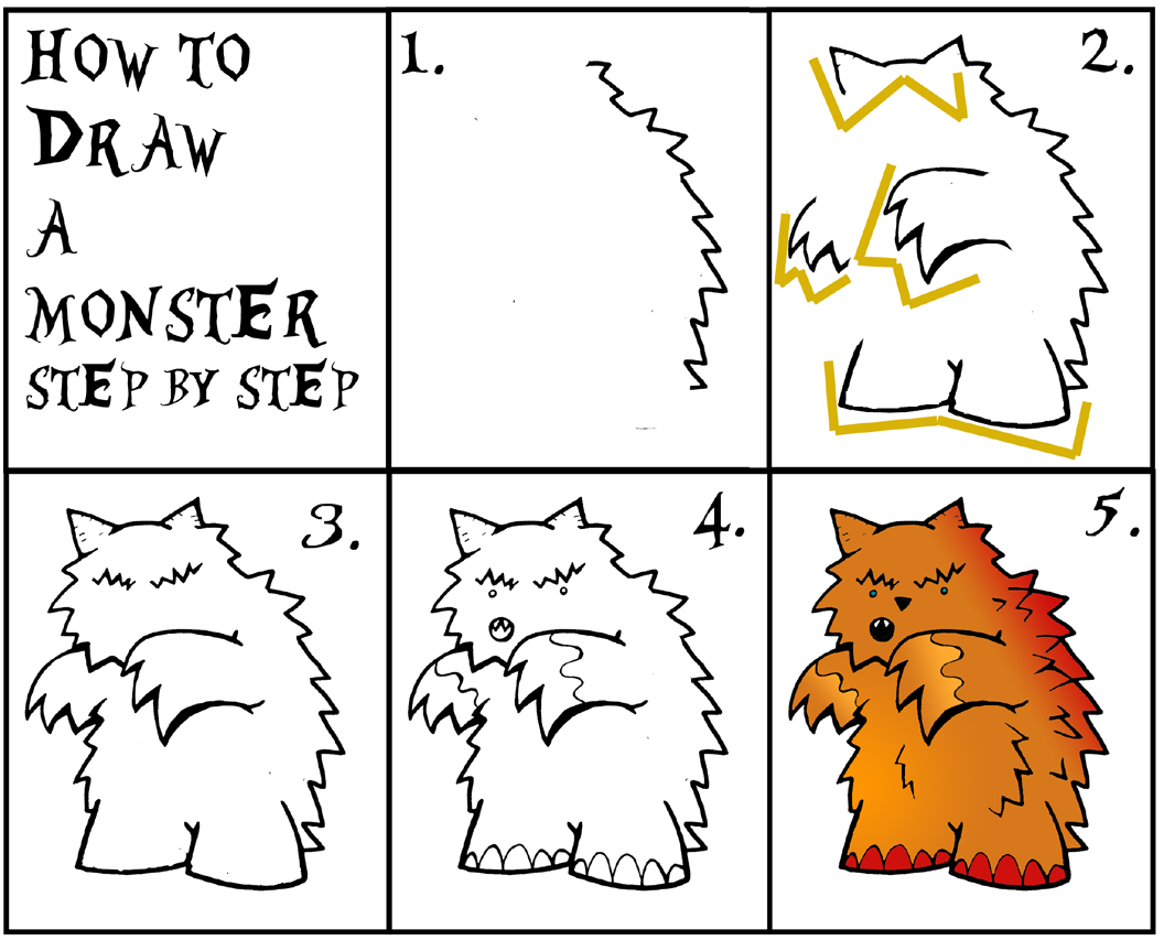 How To Draw Monsters Step By Step Daryl Hobson Artwork