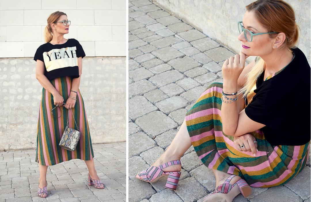 Streetstyle mit Crop Top / Outfits für Frauen über 40, Frauen ab 30