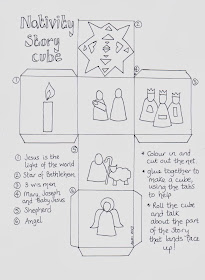 Flame: Creative Children's Ministry: Nativity story cube