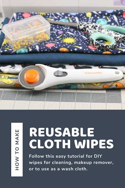 How to make your own reusable cloth wipes. This tutorial is for beginners to learn how to sew flannel wipes. Use these home made DIY wipes for cleaning, baby wipes, makeup remover, or as a wash cloth. How to make homemade flannel reusable wipes. These ecofriendly wipes can be washed and used over and over again. #sewing #diy #wipes #ecofriendly