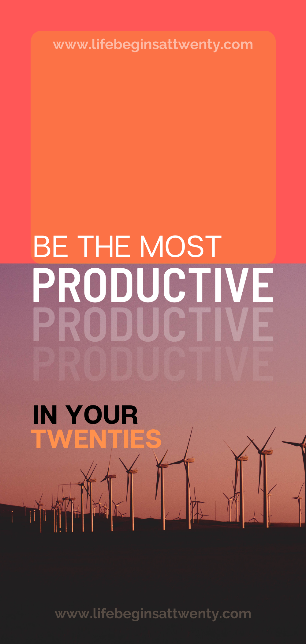 be the most productive in your twenties