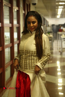 Telugu Actress Sri Reddy Mallidi Stills in White Beautiful Dress at Marriage Needs Bridal Fashion Week 2017 Logo Launch  0010.JPG