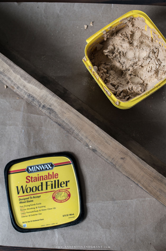 Filing holes with wood putty