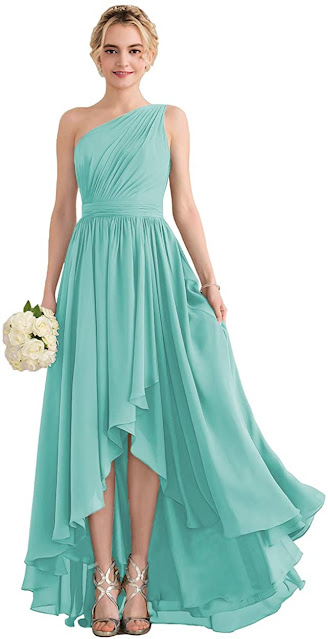 Beautiful Turquoise Chiffon Bridesmaid Dresses