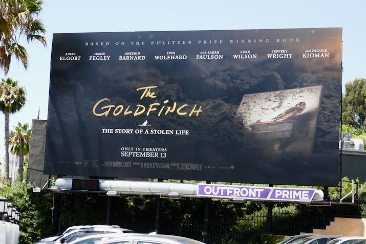 Goldfinch movie billboard