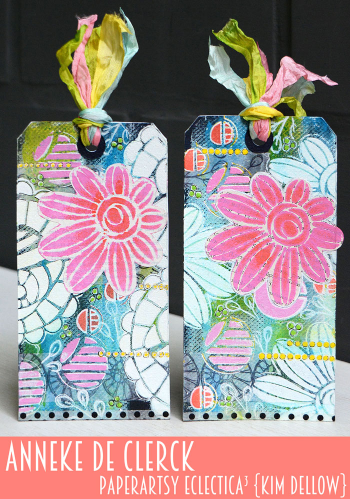 New PaperArtsy Eclectica³ {Kim Dellow} Products Showcase: Anneke De Clerck Matching Tags