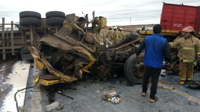 4 Camiones chocaron en cercanías de Canals