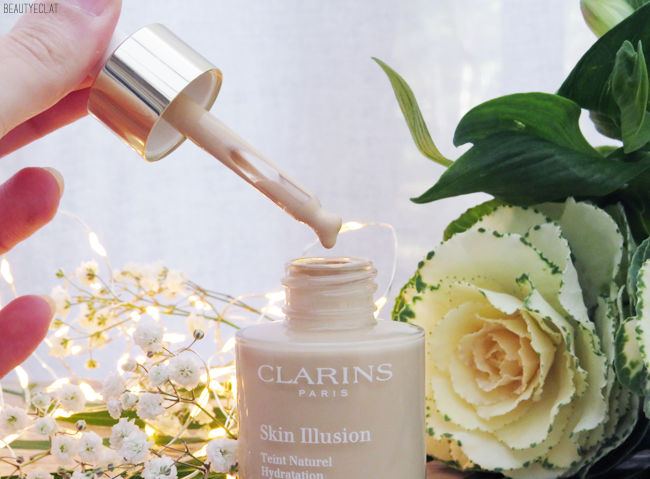 avis clarins skin illusion application