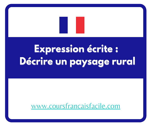 description d'un paysage rural