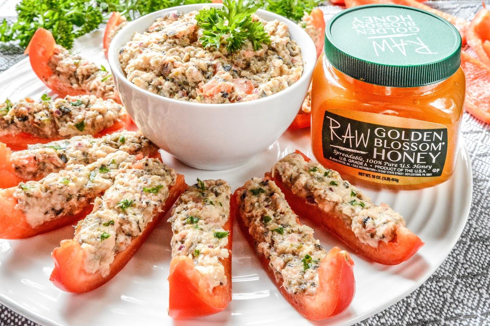 Red Pepper Tuna Appetizers