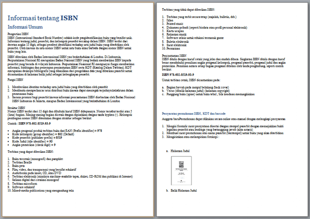 Informasi Tentang ISBN (International Standard Book Number)