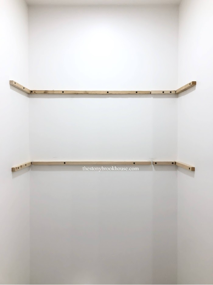 Supports attached to the wall