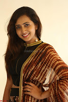 Lasya looks super cute in black choli Saree at Raja Meru Keka Press Meet ~  Exclusive 079.JPG
