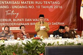 Gubernur Jambi Harapkan RUU Cerminkan Aspirasi Masyarakat.