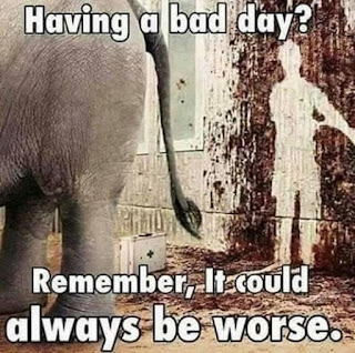 Having a bad day.