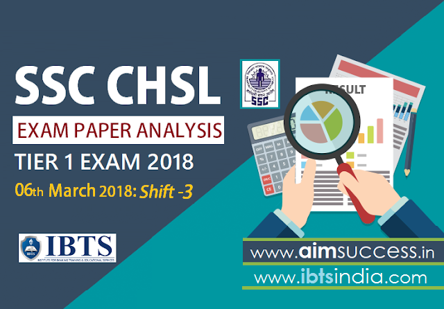 SSC CHSL Tier-I Exam Analysis 6th March 2018: Shift - 3
