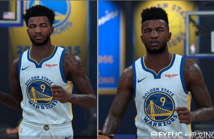Jordan Bell Cyberface, Hair Update and Body Model By Igo Inge [FOR 2K21]