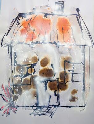 House in Snow Blizzard by Miabo Enyadike, 2015-2020