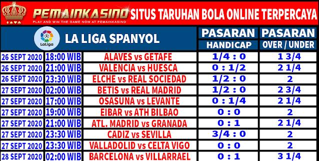 Pasaran Liga Spanyol Pekan ke 3