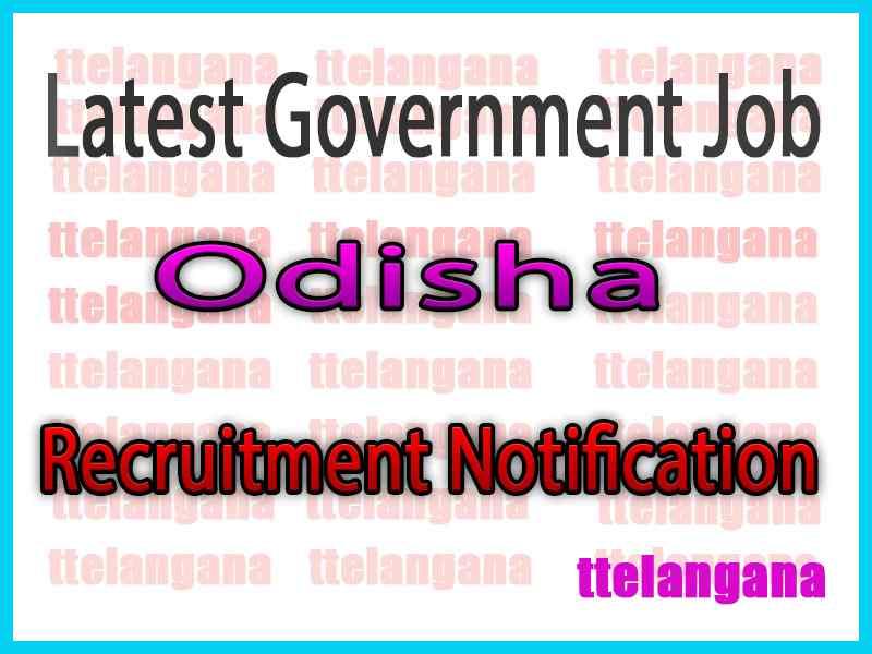 Latest Odisha Government Job Notifications
