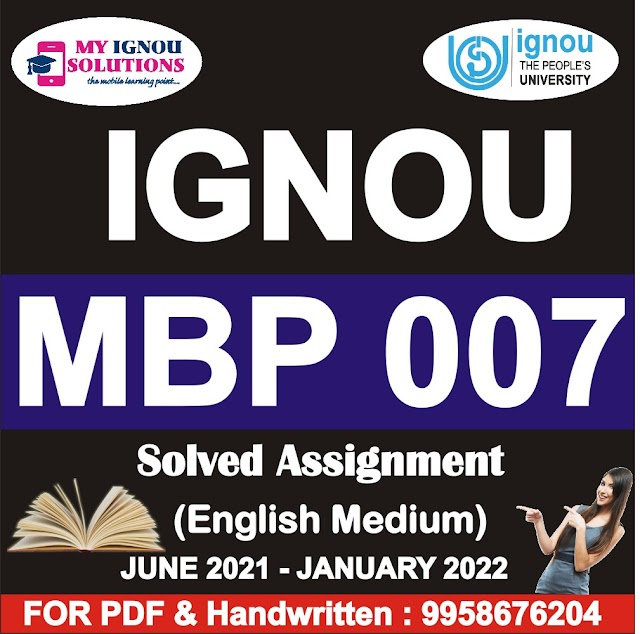 MBP 007 Solved Assignment 2021-22