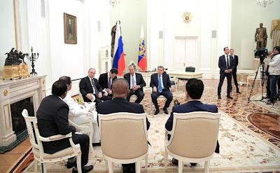 Presidents of Russian and Sri Lanka in the Kremlin.