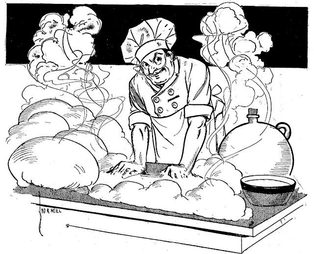 John R. Neill illustration of a chef