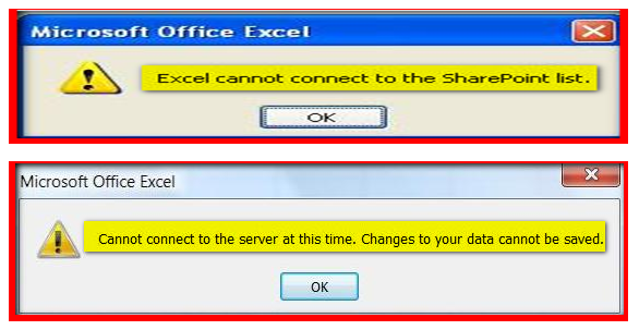Excel Cannot Connect to SharePoint List |Amol Ghuge's