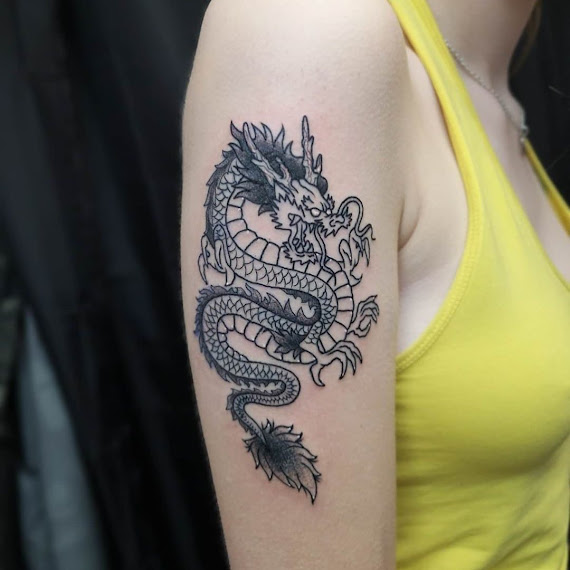 Lovely Small Hand Dragon Tattoo for Women
