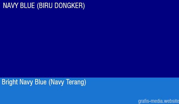 contoh warna navy blue atau biru dongker