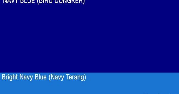 Pengertian Warna Navy Blue Biru Dongker Serta Contohnya Grafis Media