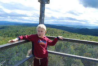 Erik on top of local fire tower