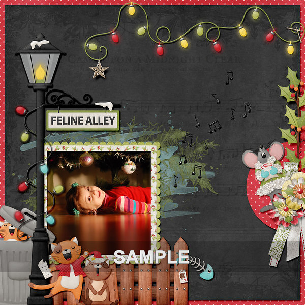 """This fun collection is great for all kinds of Holiday pages from photos of your choir to your pets at Christmas time!"" -Kristmess Designs"