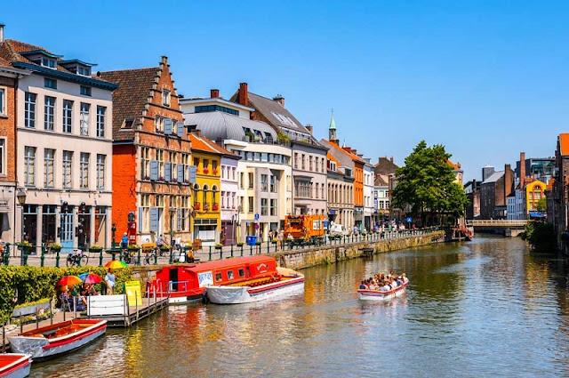 Passeio de barco em Bruxelas