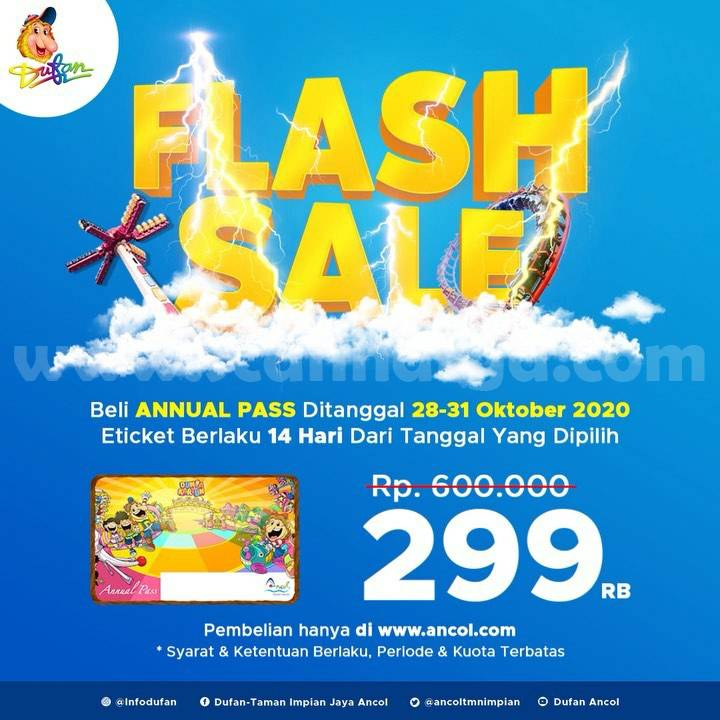 DUFAN Flash Sale Annual Pass [Gratis Masuk Dufan Setahun] cuma Rp 299.000