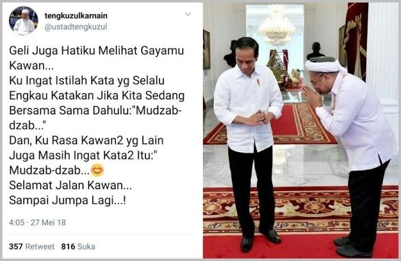 Merapat ke Jokowi, Ustadz Tengku Ingatkan Ngabalin dengan Kata Ini