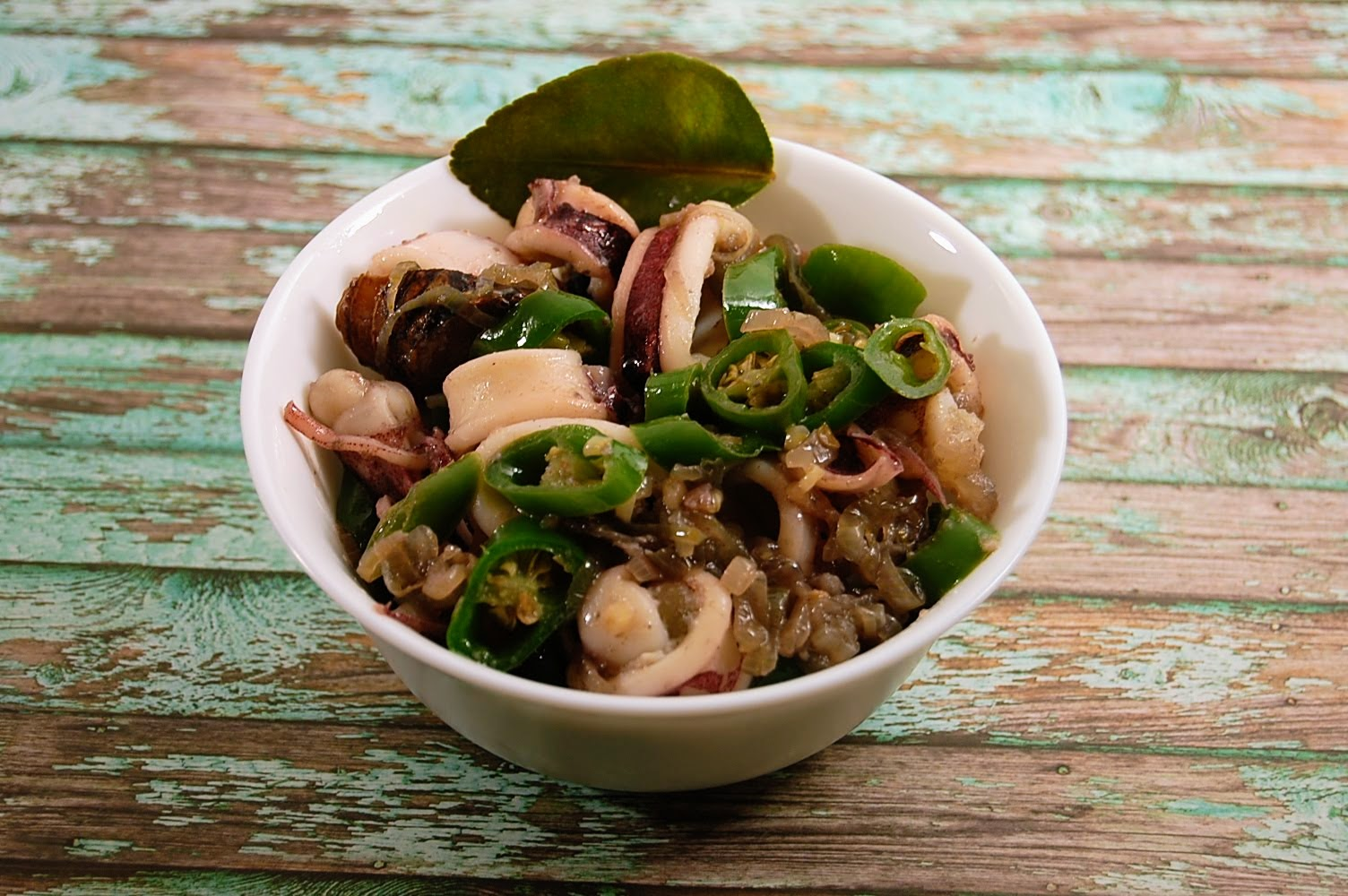 Rezept Gebratene Tintenfisch Grüne Peperoni