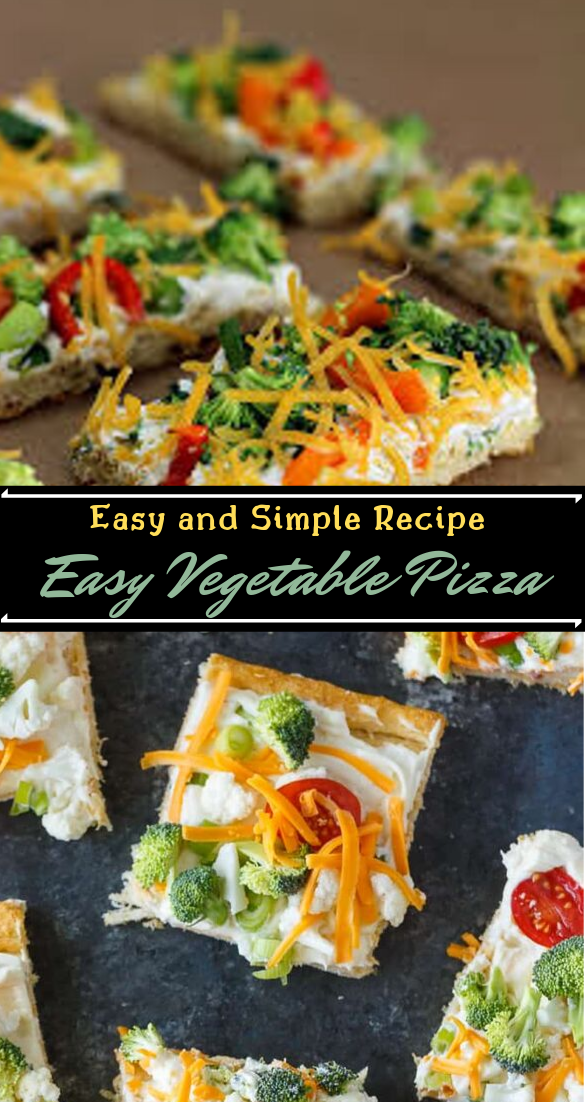 Easy Vegetable Pizza #dinnerrecipe #food #amazingrecipe #easyrecipe