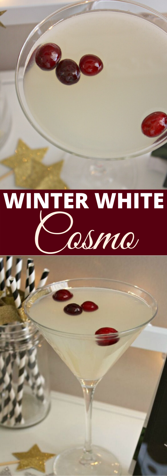 Winter White Cosmo #drink #cocktails #alcohol #christmas #party
