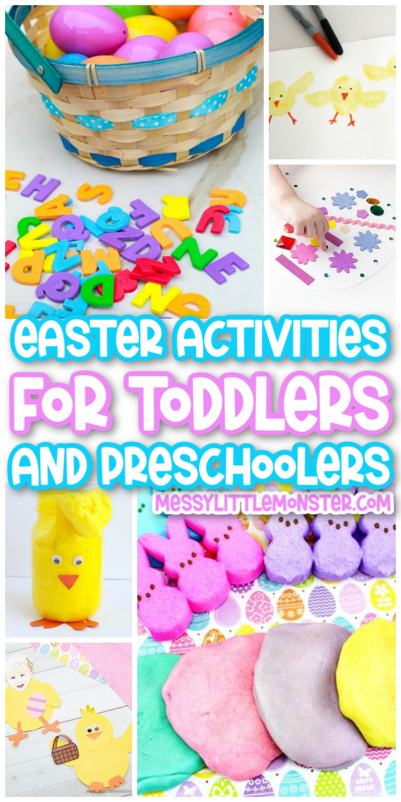 Easter activities for preschoolers and toddlers. Fun easter activities for kids.