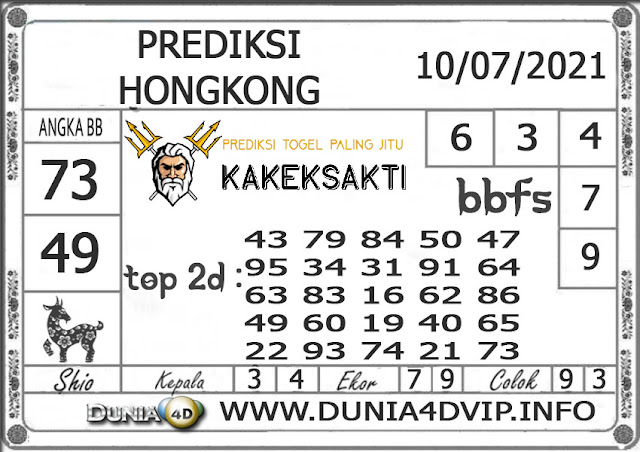 Prediksi Togel HONGKONG DUNIA4D 10 JULI 2021