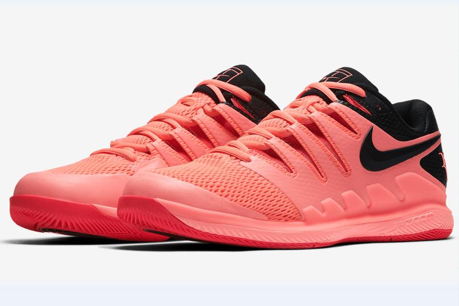 federer zapatos nike australian open rosa rosados