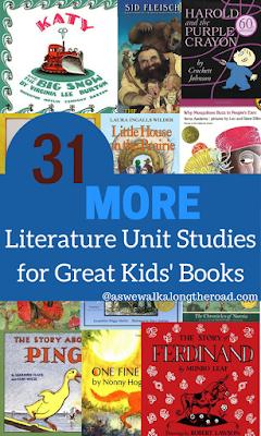 Literature unit studies for great kids books