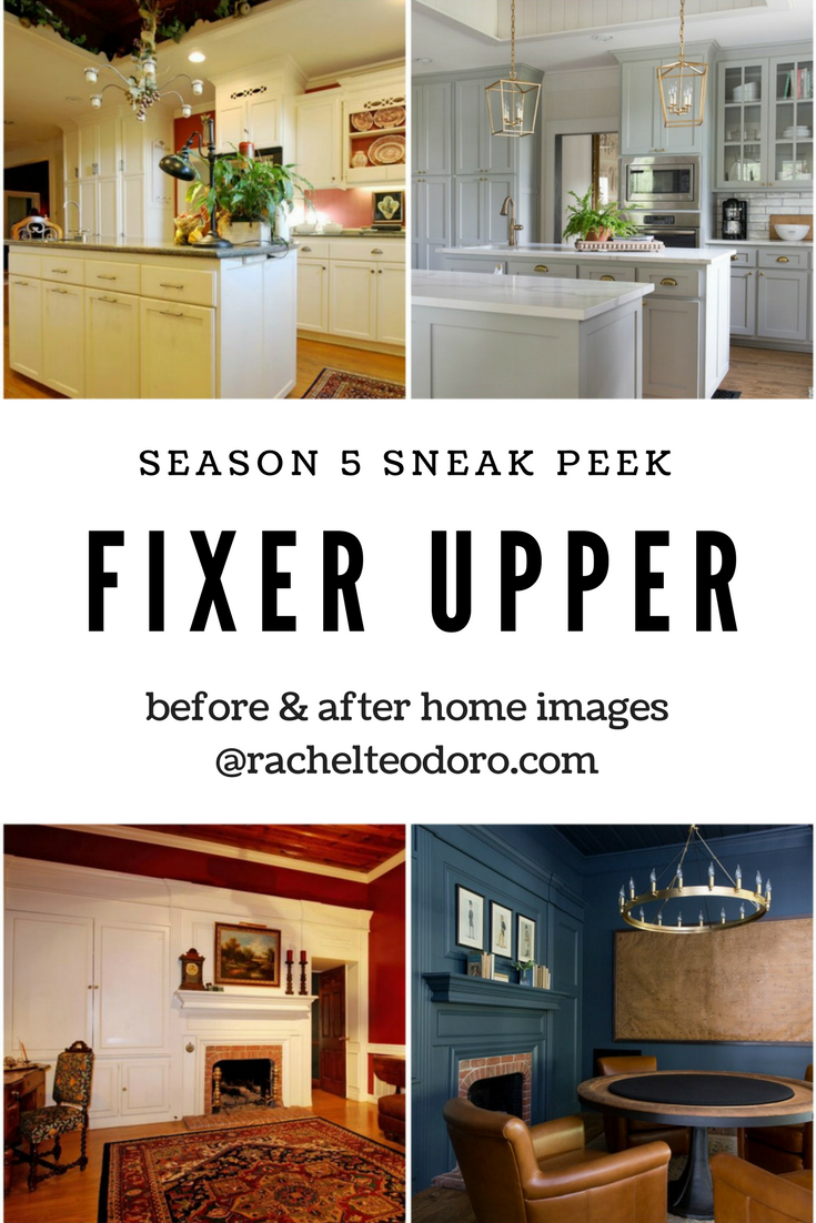 chip and joanna Gaines home design, before and after, kitchen remodel,
