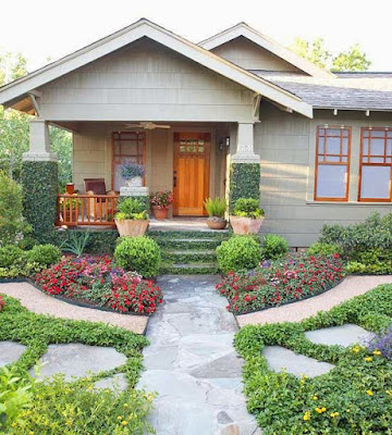 Front yard landscape design idea