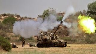 """مدفعية الاحتلال تقصف منزل لعائلة """"أبو عابدة"""" شرقي البريج وسط قطاع غزة  التفاصيل من هناا"""