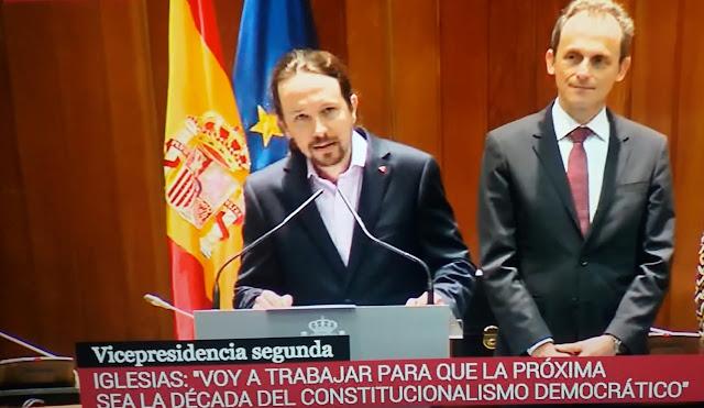 Pablo Iglesias toma posesión como vicepresidente de Derechos Sociales y Agenda 2030