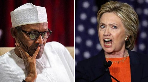 Hillary Clinton calls on Buhari . Army 'to stop killing protesters'
